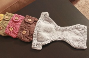 Buttoned Knit Diaper Cover Pattern Photos