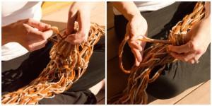 DIY Chunky Scarf Knitting Pattern Photo