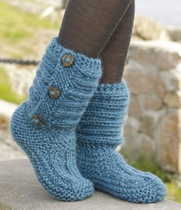 Pictures of Free Boot Knitted Buttoned Pattern