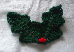 Pictures of Free Holly Leaf Knitting Pattern