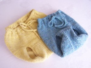 Images of Hand Knit Wool Diaper Cover Pattern