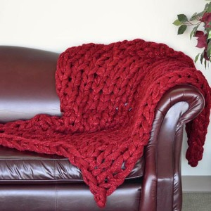 Photos of Knitted Arm Blanket Pattern