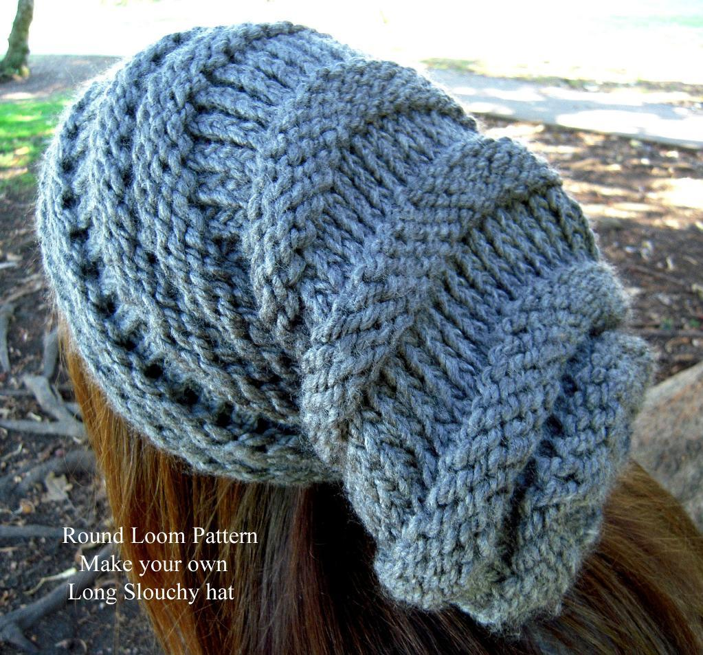 Loom Knit Slouchy Hat Patterns A Knitting Blog