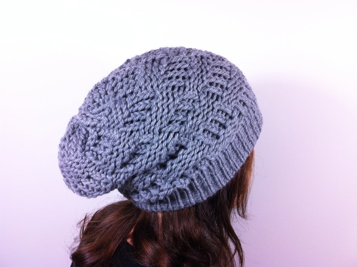 Loom Knit Slouchy Hat Patterns | A Knitting Blog