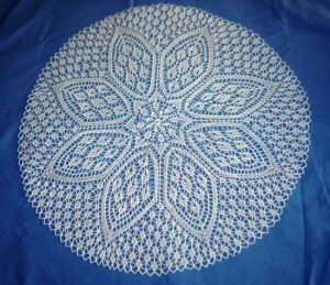 Photos of Petal Doily Knitting Pattern