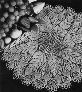 Pine Cone Knitted Doily Pattern Images