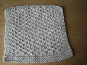 Seed Stitch Washcloth Knitting Pattern Images