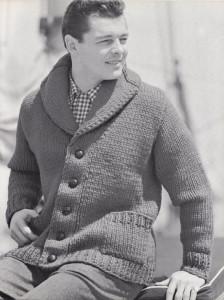 Photos of Shawl Collar Vintage Knitting Pattern