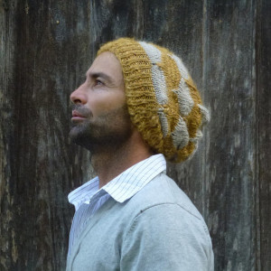 Yellow Beanie Knitting Pattern Tutorial Images