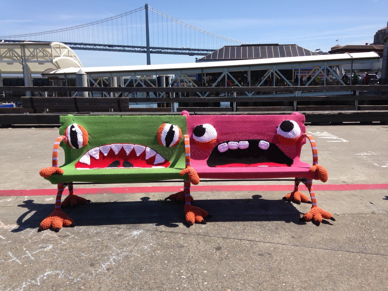 Benches in San Francisco get the yarnbombing treatment