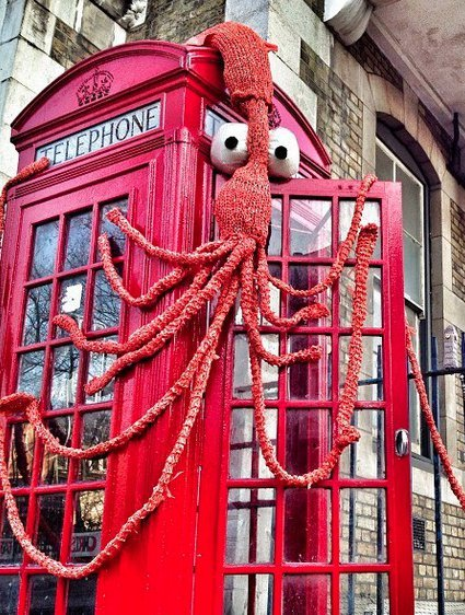 This phonebooth in London now has its own doorman!