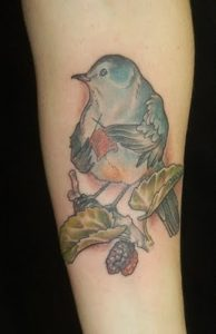 bird knitting tattoo