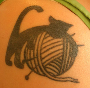 cat knit tattoo
