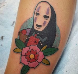 studio ghibli no face tattoo