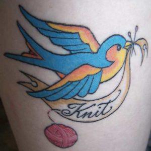 bird knit tattoo